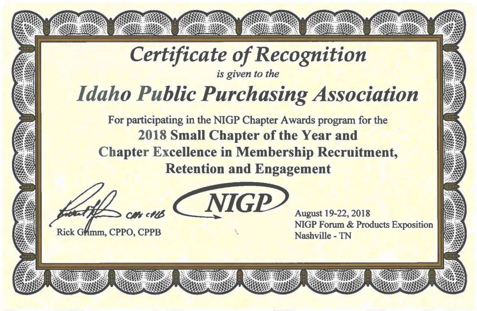 Idaho Public Purchasing Association Home Page